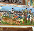Роспись во дворце шекинских ханов, XVIII в.