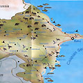 Hunting and Fishing map of Azerbaijan